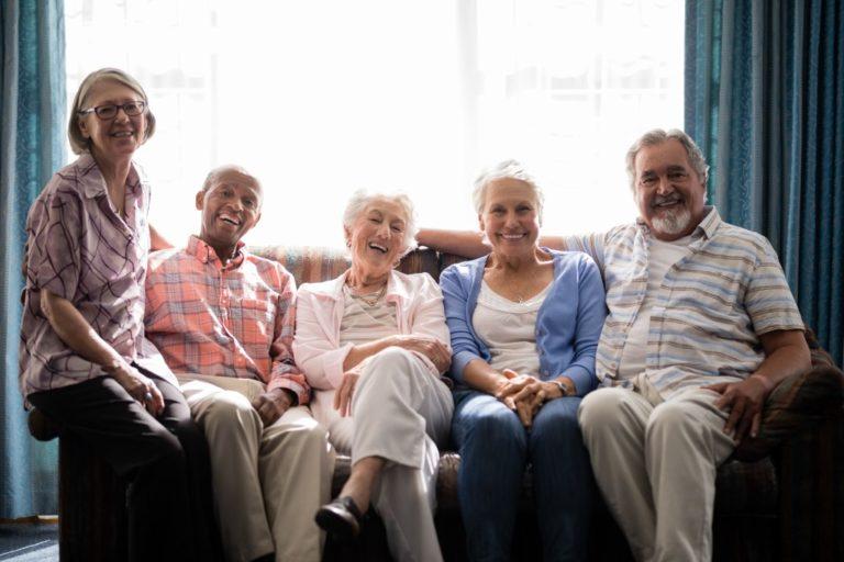 Group of senior citizens