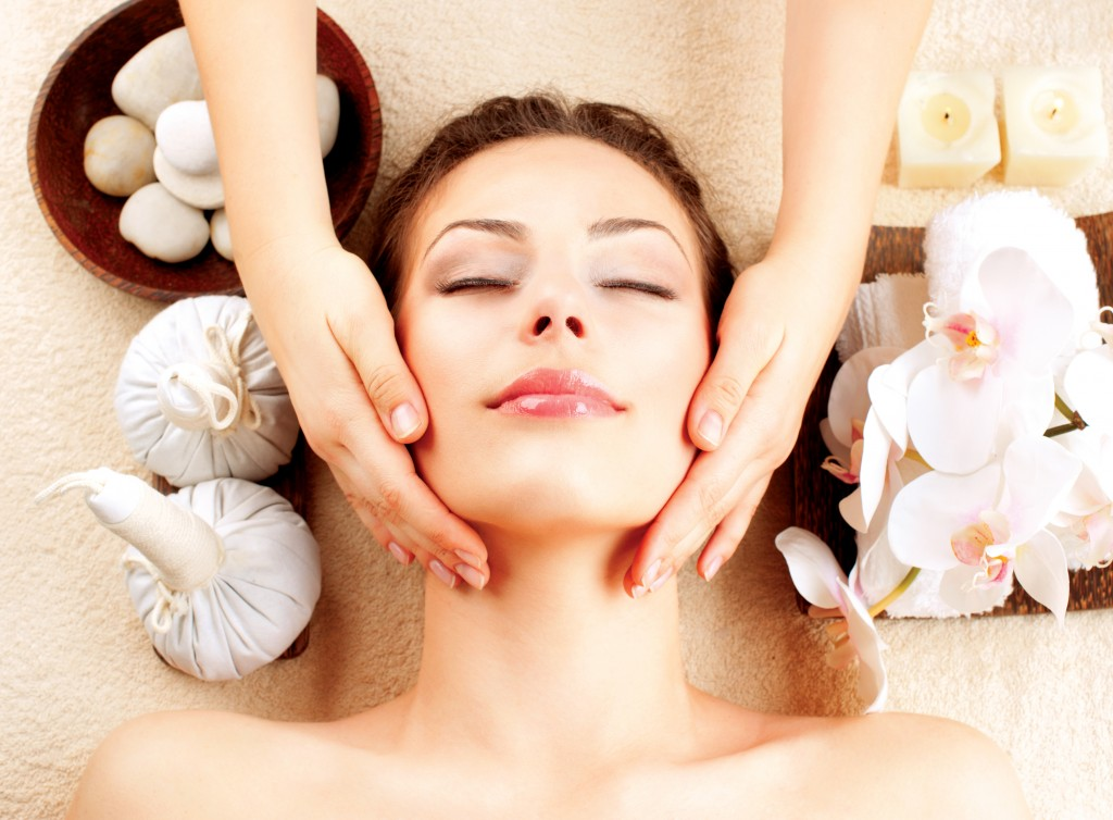 getting a massage from a wellness spa