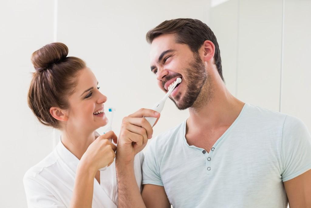 brushing teeth concept
