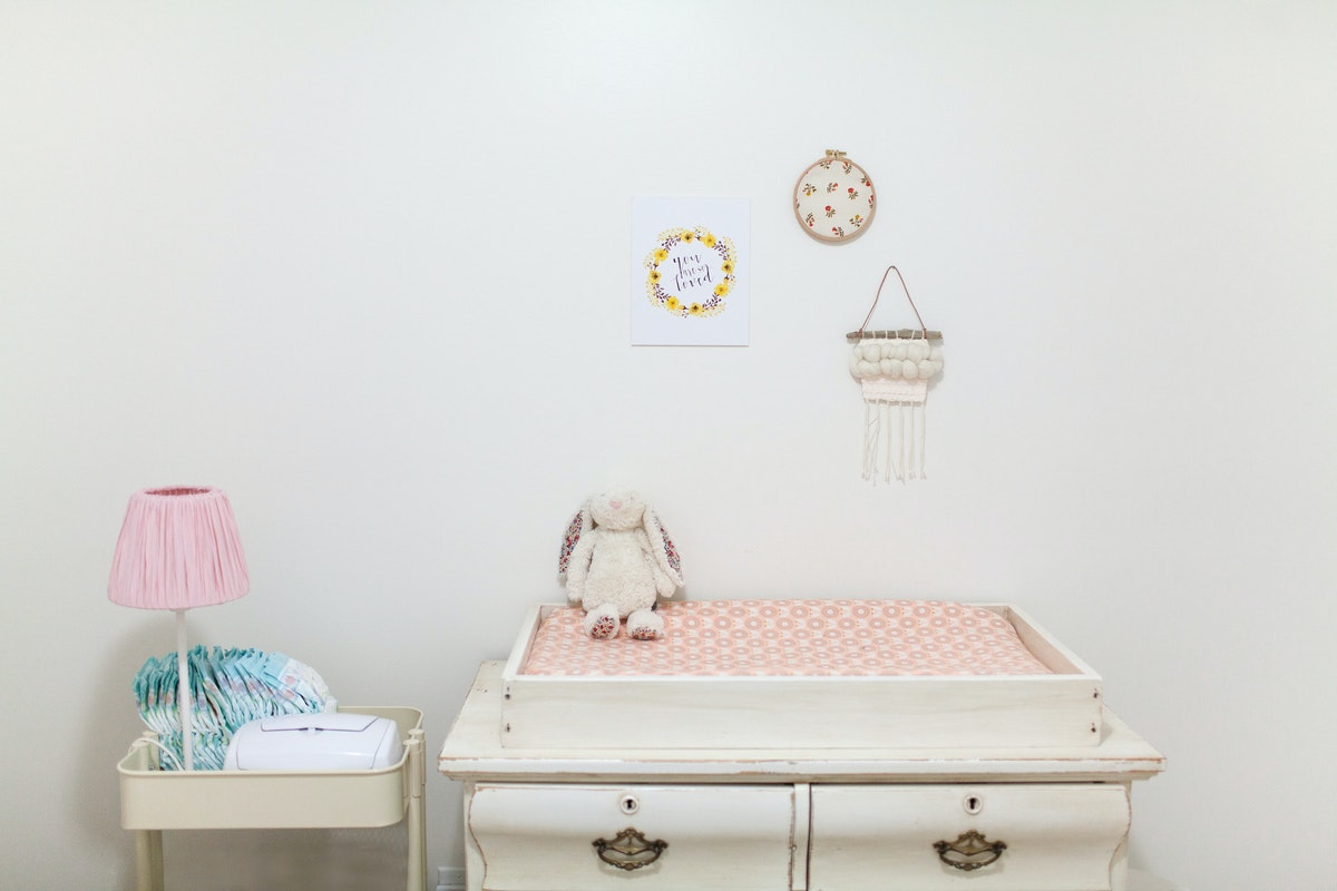 diaper changing area