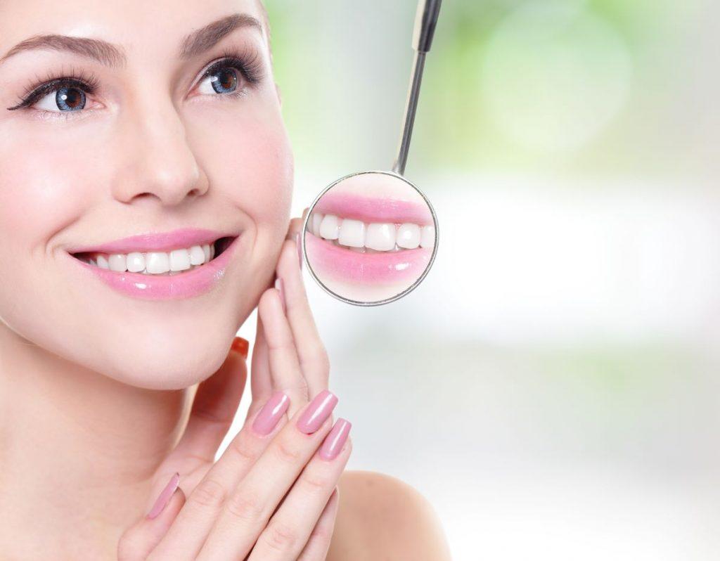 woman smiling white teeth