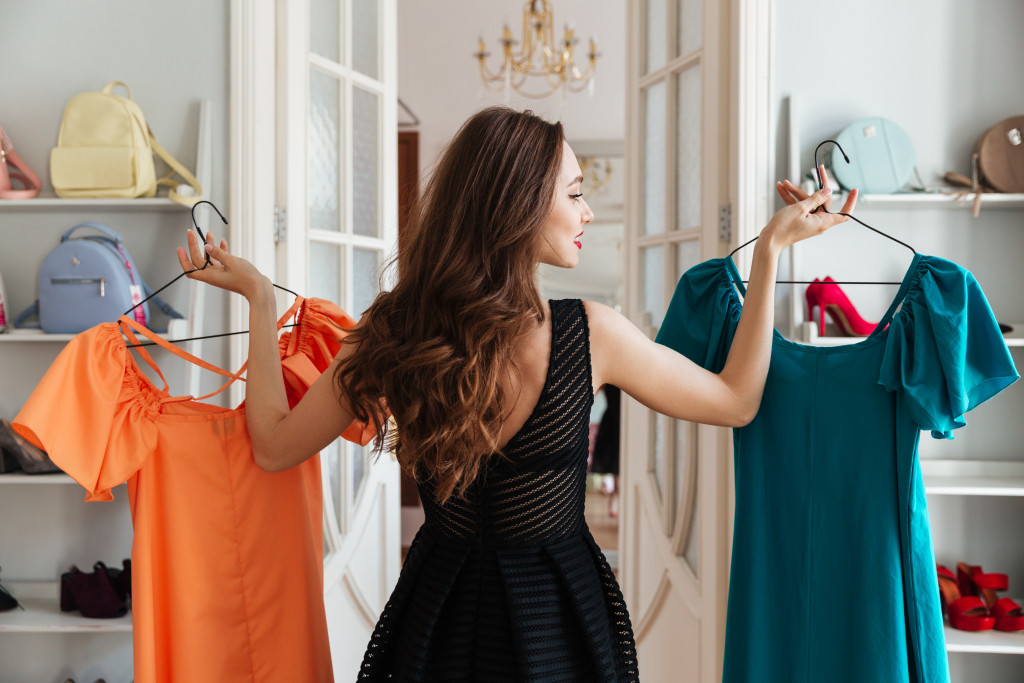 woman picking out clothes